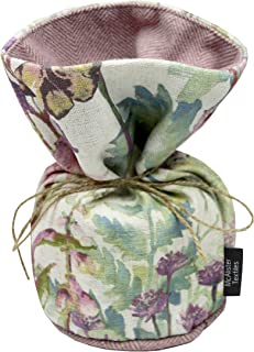 McAlister Pastel Wild Flower Unfilled Decorative Fabric Door Stop | 8x6 Purple Pink & Blue Vintage Linen Floral Shabby Chic Rustic Country Cabin Accent Decor