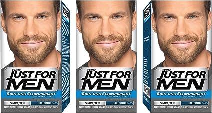 Just For Men - Tinte de barba y bigote para hombre, color bronceado, 3/ paquete