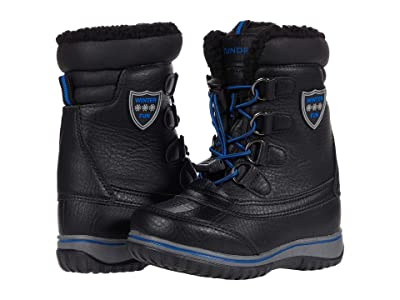 Tundra Boots Kids Alta (Little Kid/Big Kid) (Black/Lime) Boys Shoes
