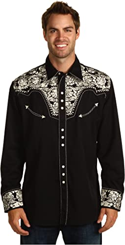 Scully Floral Tooled Shirt