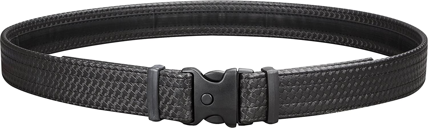 Uncle Mike's Law Enforcement Mirage Basketweave Ultra Duty Belt with Hook and Loop Lining