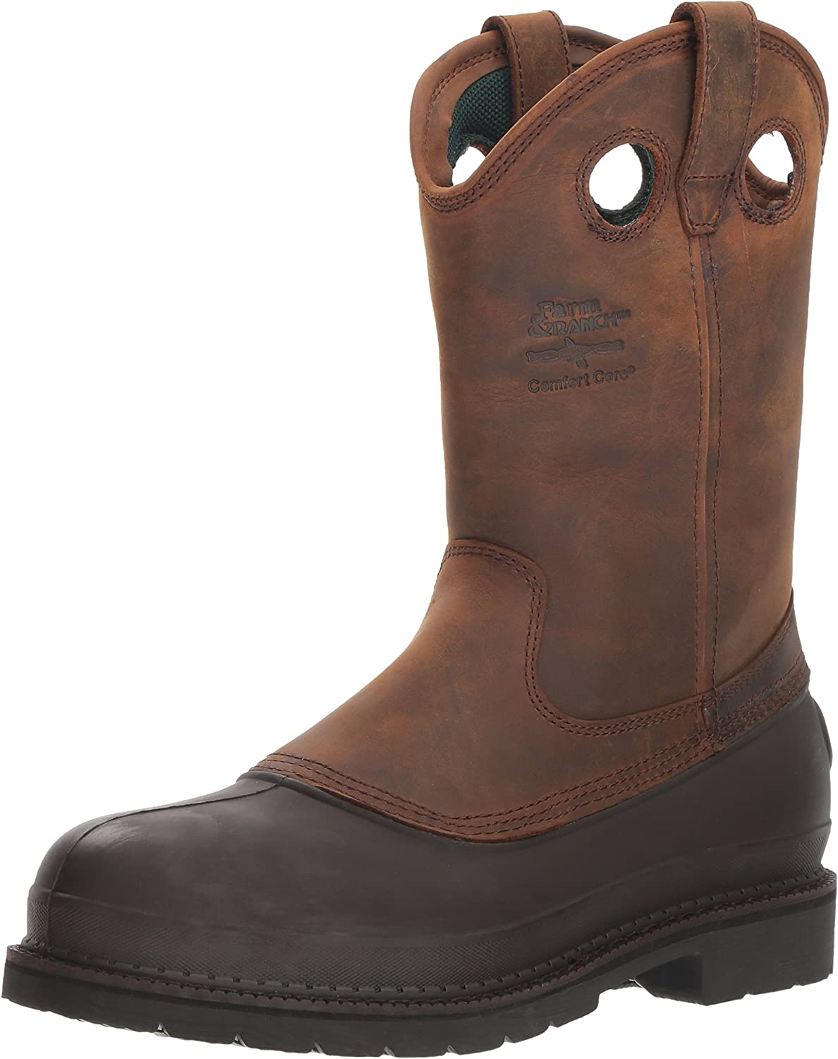 Georgia Boot Muddog Wellington Work Boot, Brown - 11.5 2E US