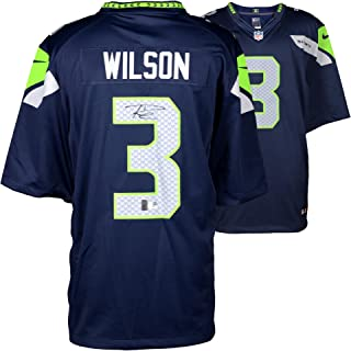 Russell Wilson Seattle Seahawks Autographed Nike Limited Blue Jersey -  Fanatics Authentic Certified - Autographed NFL d9945f3de