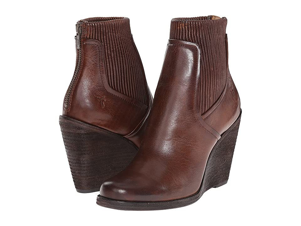 Frye Carrie Scrunch Back Zip (Dark Brown Antique Pull Up) Cowboy Boots