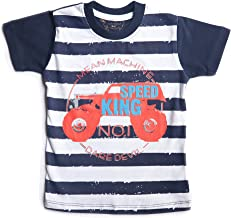 kid studio Boys Tshirt for Kids 1 to 7 Years Round Neck Short Sleeve Cotton Printed Graphic Tees