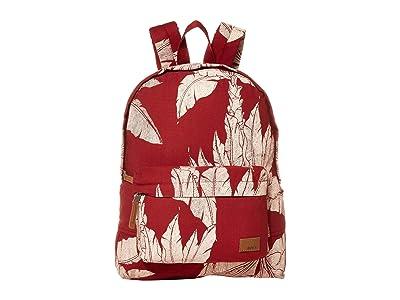 Roxy Sugar Baby Canvas Backpack (Rhubarb Banana Tree) Backpack Bags