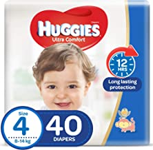 Huggies Ultra Comfort, Size 4, 8-14 kg, Value Pack, 40 Diapers