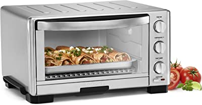 "Cuisinart TOB-1010 Toaster Oven Broiler, 11.77"" x 15.86"" x 7.87"", Silver"