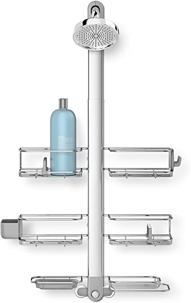 Simplehuman Adjustable Shower Caddy XL Stainless Steel Anodized Aluminum