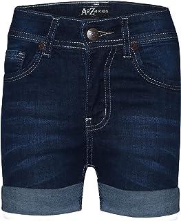 Kids Girls Shorts Bermuda Dark Blue Jeans Hot Pant Summer Denim Chino Short 5-13