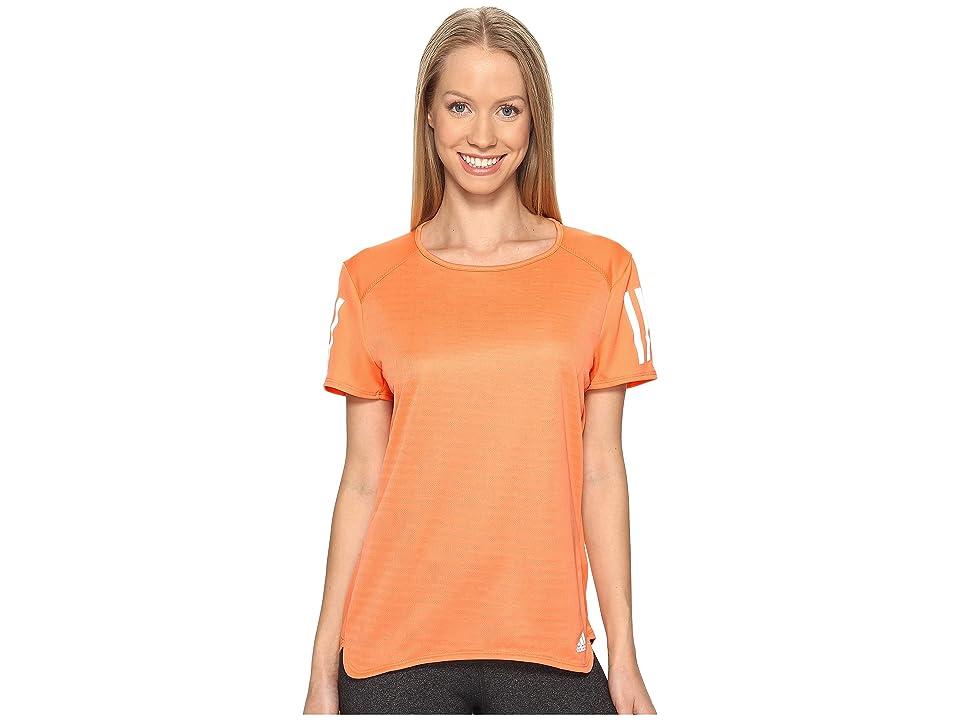 adidas Response Short Sleeve Tee (Easy Orange S17) Women