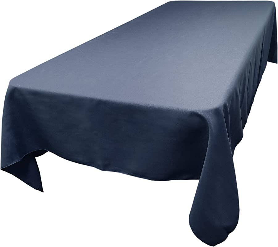 TableLinensforLess Polyester Rectangle Tablecloth 60 Inch By 144 Inch Navy Blue