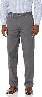 Haggar mens Premium Comfort Khaki Flat Front Classic Fit Pant Casual Pants
