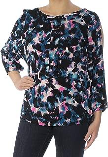 RACHEL Rachel Roy Womens Printed Split Sleeves Blouse