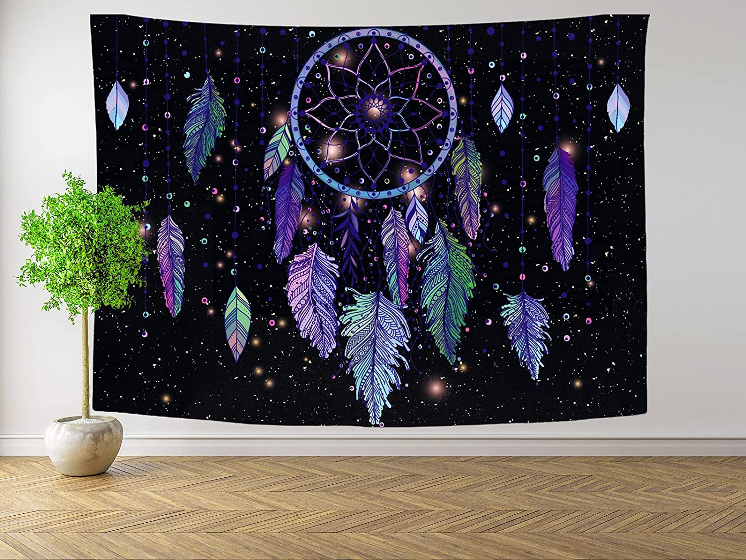 Floral Tapestry Wall Decor Bedroom Ta Max Max 82% OFF 44% OFF Aesthetic Feather