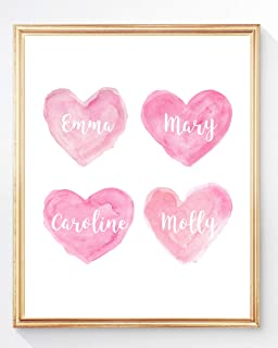 Personalized Sisters Gift, Customized Family Print in 6 Colors, UNFRAMED
