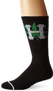 HUF Men's H-Town Crew Socks