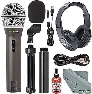 Samson Q2U Handheld Dynamic USB Microphone Recording and...