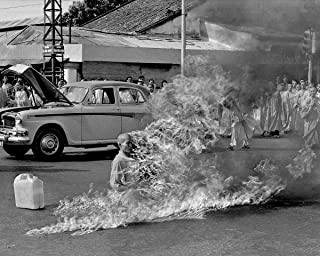 Infinite Photographs Photo: Buddhist Monk, Thich Quang Duc, Burning to Death, Protest Size: 8x10 (Approximately)