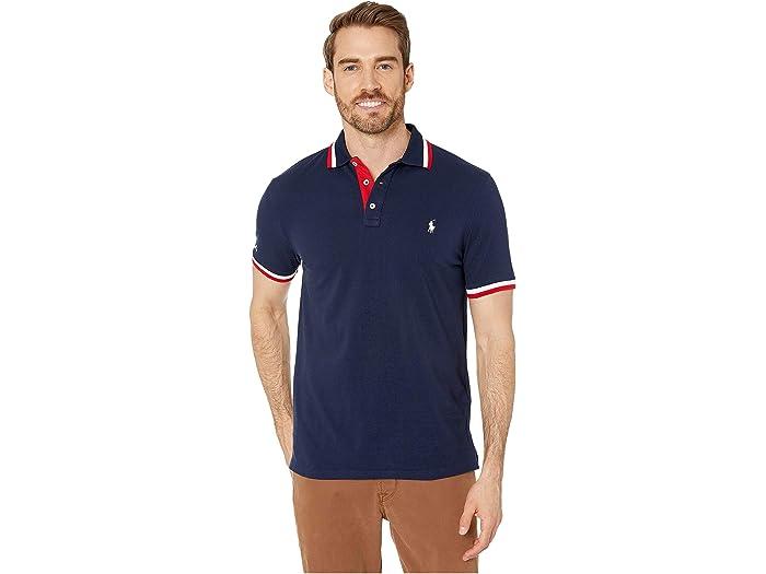Polo Ralph Lauren Men/'s Classic Fit Mesh BLUE MULTI BLOCK Polo Shirt NEW