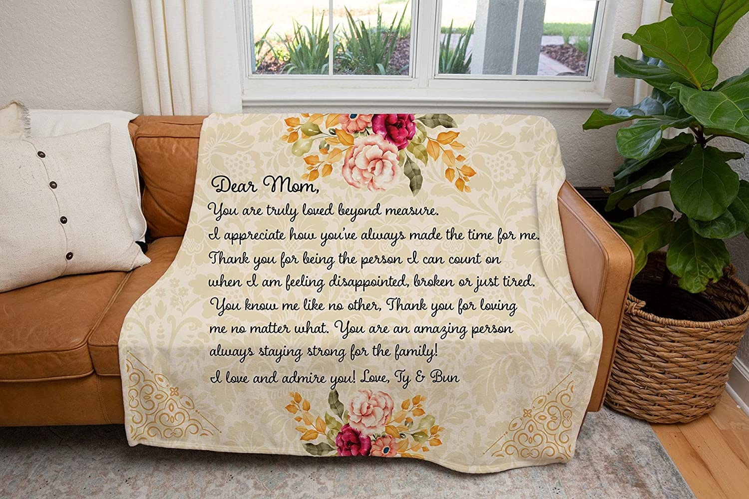 Letter to Mom Max Phoenix Mall 87% OFF Blanket Mothers Blankets Day Customize f