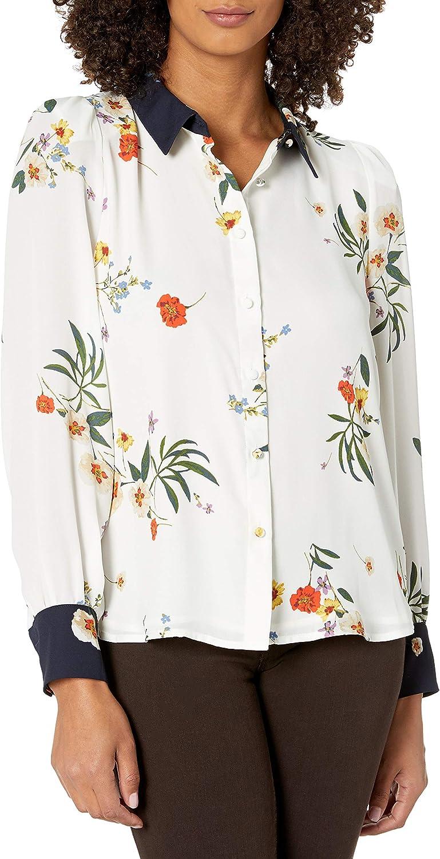 Vince Camuto Women's Floral Button Down Blouse