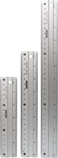Yosogo Anti Slip Aluminum Rulers 15cm & 20 cm & 30 cm (6 inch & 8 inch & 12 inch) Set Of 3 pcs
