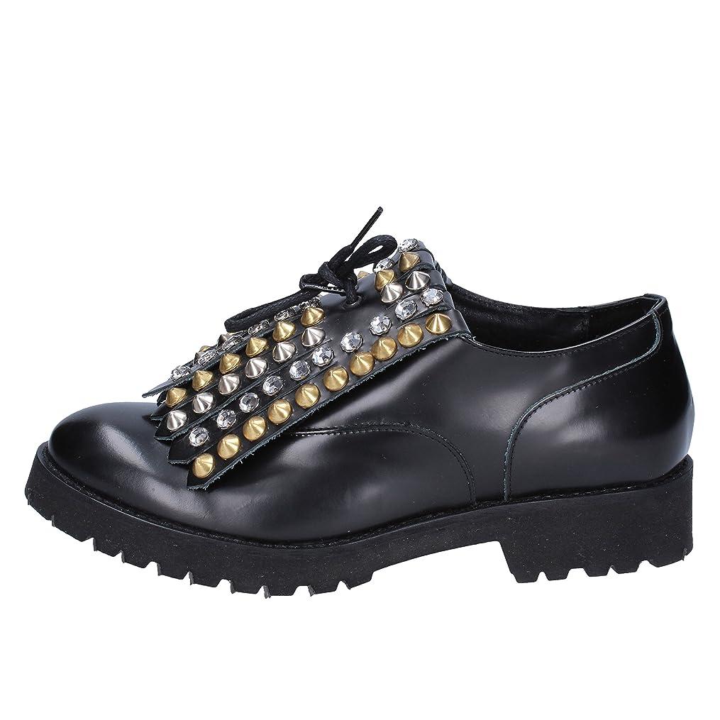 誰かピルネスト[OLGA RUBINI] 古典的な女性の靴 レディース レザー ブラック 26.0cm