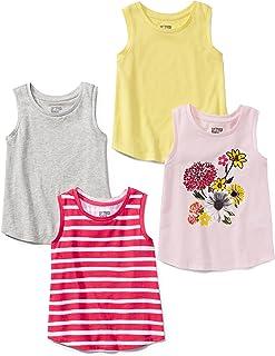 Spotted Zebra - Juego de 4 Camisetas sin Mangas para niña