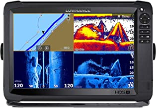 HDS-12 Carbon - 12-inch Fish Finder with Skimmer Transducer, StructureScan 3D and C-MAP US Enhanced Basemap Installed