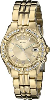 GUESS Womens Stainless Steel Two-Tone Crystal Accented Watch
