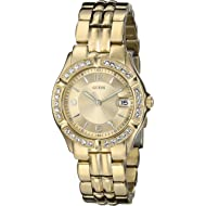 GUESS Women's Stainless Steel Two-Tone Crystal Accented Watch