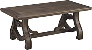 Ashley Furniture Signature Design - Tanobay Traditional Rectangular Cocktail Table - Gray