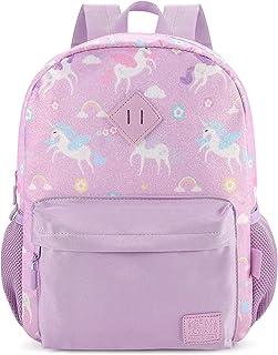 mibasies Toddler Backpack for Girls Kids Kindergarten Unicorn Rainbow Bag