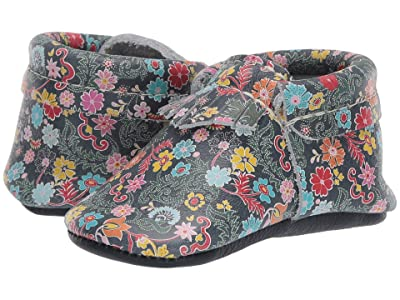 Freshly Picked Soft Sole City Moccasins Color Safari (Infant/Toddler) (Summer Floral) Girl
