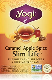 Yogi Caramel Apple Spice Snack Tea, 16 bags, 1.12 oz (32 g) (Pack of 3)