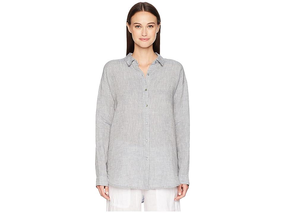 Eileen Fisher Classic Collar Shirt (Chambray) Women