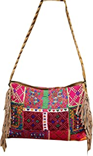 New Womens Embroidery Zari PatchWork Vintage Shoulder Bag Indian Banjara Crossbody Sling Hnadbags