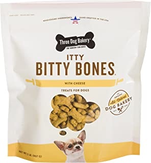 Three Dog Bakery Itty Bitty Bones Baked Dog Treats, 32 oz