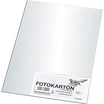 Folia 6801061 Fotokarton 300g//m² silber 70x100 cm glänzend 10 Bogen