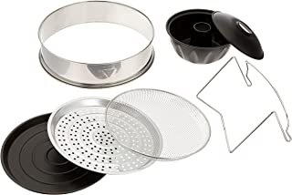 Oyama Turbo Oven Accessory Deluxe Package with Extender Ring, Bundt Cake Pan, Stainless wire mesh, Steamer pan, Grill pan,...