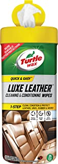 Turtle Wax 50650 Cleaning & Conditioning Quick and Easy Luxe Leather Wipes