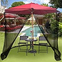 BAOZOON Patio Umbrella Cover Outdoor Camping Tents Mosquito Netting Screen Polyester Zippered Mesh Enclosure for Patio Table Umbrella, Garden Deck Furniture