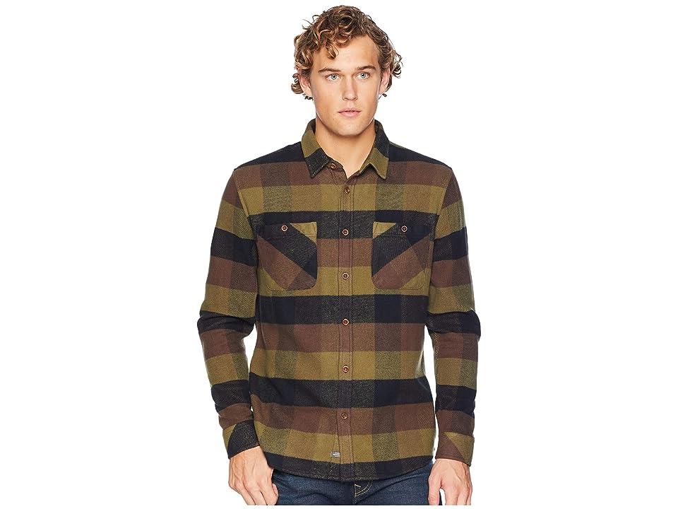 Quiksilver Waterman Colder Winds Long Sleeve Flannel Shirt (Turkish Coffee) Men
