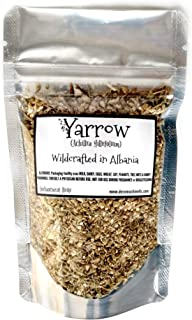 Reiki Charged Yarrow Flower and Stem Achillea Millefolium Wildcrafted in Bulgaria Loose Leaf Dried 0.5 oz bag Small Sample...