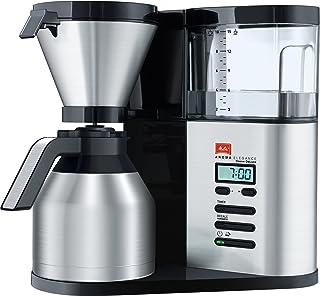 Melitta 1012-06 AromaElegance Therm DeLuxe Filtre Kahve Makinesi, Siyah/Paslanmaz Çelik