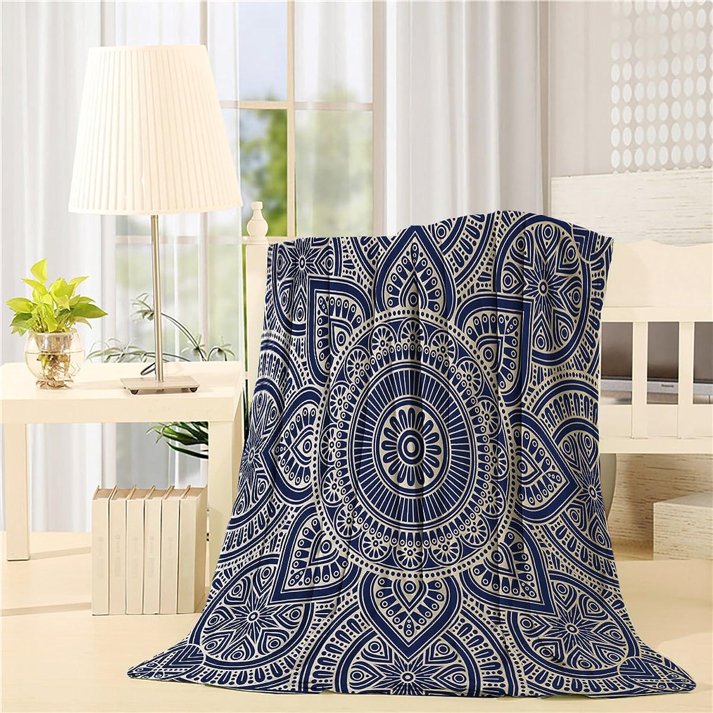 Flannel Fleece Bed Blanket 40 x 50 inch Throw Blanket Lightweight Cozy Plush Blanket for Bedroom Living Rooms Sofa Couch - Vintage Mandala Pattern