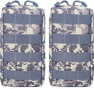 QZNINC 2 Pack Molle Pouches - Tactical Compact Water-Resistant EDC Pouch
