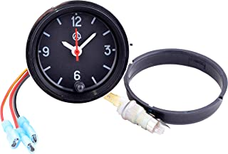 Car Dashboard Clock/Automotive Clock - Analog 12v Car Clock with LED Backlight Set - Round Quartz Automobile Clock for Classic, Vintage, Race or Muscle Cars - Retro Car Accessories