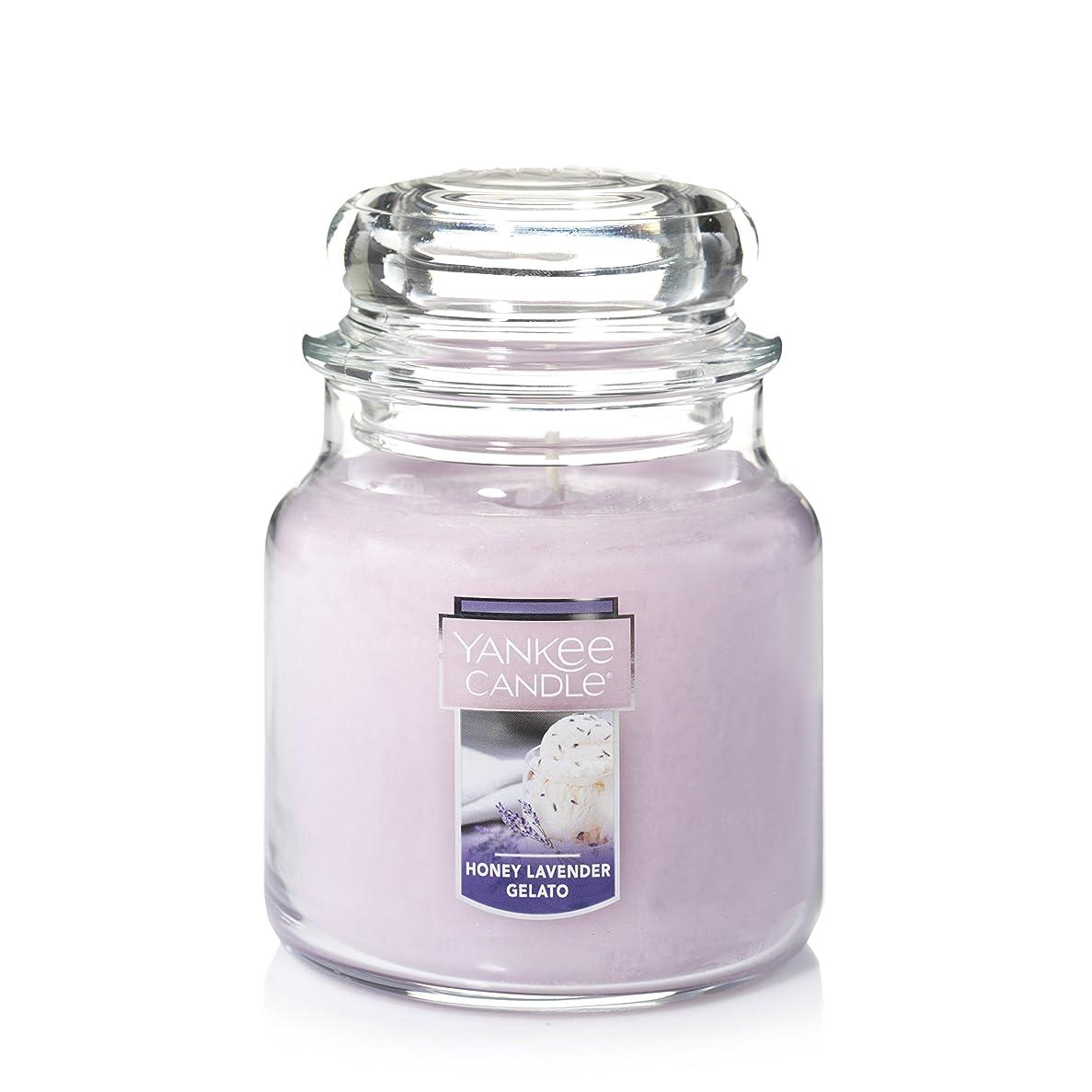 データ尊厳インドYankee Candle HoneyラベンダーGelato Medium Jar Candle パープル 1521685Z